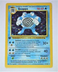 Pokemon - German Quappo 13/102 Holo 1st Edition