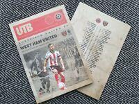 Sheffield United v West Ham United PREMIER LEAGUE PROGRAMME 22/11/20! POST NOW!
