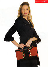"""KNITTING PATTERN LADIES 14x6x6"""" MILITARY-INSPIRED BAG WITH/OUT POCKETS OKM AUA"""