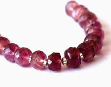 PINK TOURMALINE BEADS FACETED RONDELLE 4 MM 15 PCS NATURAL GEMSTONE #D9781