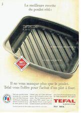 PUBLICITE ADVERTISING 126  1993    Le plat à rotir Tefal