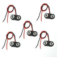 5 Pz plastica nera ho tipo 9V batteria da 9 volt clip Connettori Buckle cavo HK