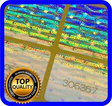 128 Hologramm Etiketten mit Seriennummern, Siegel, Garantie, Aufkleber 18x18mm