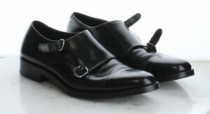 V4 $250 Men's Size 8.5M Cole Haan Madison Double Monk Strap Oxford in Black