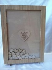 Wedding Drop Box Guest Book Complete With Hearts A3 oak venner personalised