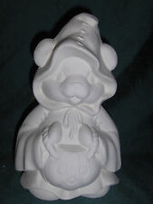 Trick or Treat Bear with Jack o Lantern - Ceramic Bisque Ready to Paint / Finish