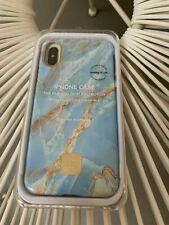 HAPPY PLUGS iPhone X Case Bleu Quartz