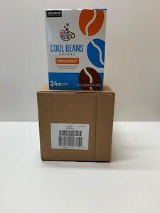 Keurig Cool Beans Medium Roast Coffee K-Cups 96 Ct Exp 12/21 4 Boxes Of 24