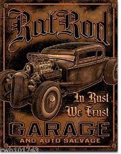 Rat Rod Garage Vintage Auto Salvage ad TIN SIGN metal poster wall art decor 1895