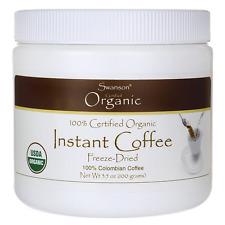 Swanson 100% Certified Organic Instant Coffee Fr 3.5 oz (100 grams) Jar