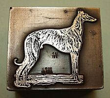"""GREYHOUND"" DOG PRINTING BLOCK."