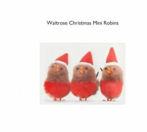 Waitrose Christmas Mini Robins Decoration Craft Gift 24pc (8 packs of 3) RRP £12