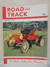 Vintage Road & Track Magazine February 1951 1903 Ford