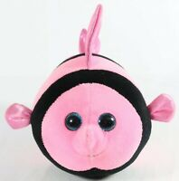 Ty Beanie Ballz Gilly Fish Plush Stuffed Animal Pink Black Striped 2013