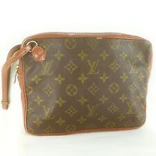 Auth LOUIS VUITTON Vintage Clutch Bag Purse Monogram Brown