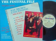 Ray Brown & Whispers ORIG OZ LP Miles of hits Festival file Vol. 7 NM Beat Rock