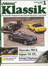 Motor Klassik  1  / 1988 Mercedes 500 K Jaguar XK 120 Ferrari Daytona W 96 804
