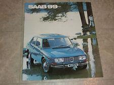 1971 SAAB 99  LITERATURE MANUAL BROCHURE PAMPHLET