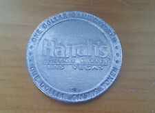 Vintage One Dollar Casino Token Harrah's Casino Hotel Las Vegas NV Bourbon St