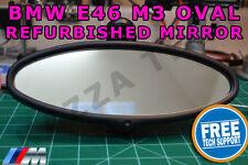 Genuine BMW E46 M3 VISTA POSTERIORE OVALE COMPLETO SPECCHIO AUTO-oscuramento vetro Ricondizionato