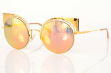 Fendi Eyeshine FF0177/S gold mirrored cutout cat eye frame sunglasses NEW $605