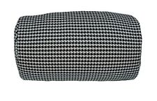Houndstooth Micro Bead Roll Bed Chair Car Home Cushion Tube Throw Back Pillow