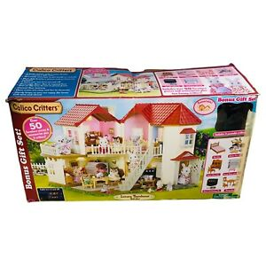 Calico Critters Luxury Townhome Gift Play Set Townhouse Furniture Figures Lot