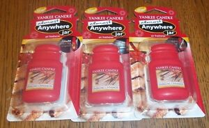 YANKEE CANDLE ALMOST ANYWHERE JAR SPARKLING CINNAMON LOT OF 3