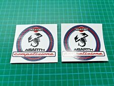 Fiat 500 / 595 / 695 Abarth MArtini competizion wing Decals / Stickers 80mm wide
