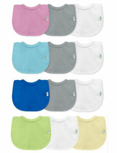 Green Sprouts Stay-Dry Milk Catcher Baby Bib 3 Pack