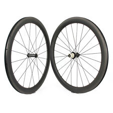 50mm Depth 700C Carbon Wheels clincher carbon road bike wheelset Optional hubs