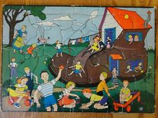 Vintage Built Rite Toys Sta-N-Place #18 Child's Frame Tray Board Inlaid Puzzle