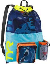 TYR Big Mesh Mummy Backpack- blue / yellow