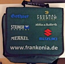 Multiple Emblem Logo Green Messenger Laptop Bag Federal Suzuki Steiner Gothaer