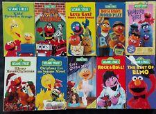 Sesame Street VHS Tape Lot (10) ~ MONSTER HITS, CHRISTMAS, ROCK & ROLL, ELMO,ZOE