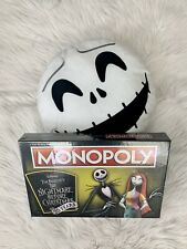 Monopoly Nightmare Before Christmas Game 25th Anniversary Edition FREE PILLOW