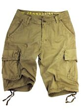 MENS CARGO SHORTS MILITARY-STYLE IN ASSORTED SOLID COLORS, SIZES: 30 - 54 #27S