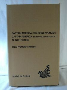 Hot Toys Captain America Star Spangled Man  MMS205 Factory Sealed Authentic