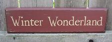 PRIMITIVE COUNTRY WINTER WONDERLAND SHELF SIGN
