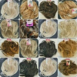 Large Wavy Hair Scrunchie Wrap Synthetic Natural Bun Updo Messy Hairpiece Top