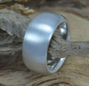925 Sterling Silber Schwerer blanker Silber-Ring massiv matt o. poliert schlicht