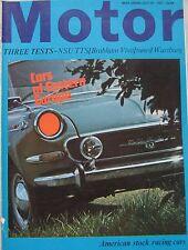 Motor magazine 29/7/1967 featuring Brabham Vauxhall road test, Wartburg, NSU