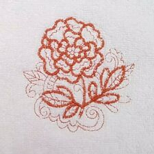 Embroidered 100% Egyptian Cotton Face Cloth / Flannel -  Marigold