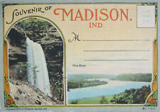 Vintage Souvenir of Madison, Indiana 16 Postcard c1912 Curt Teich & Co. Chicago
