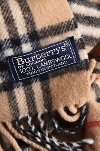 Burberrys London Classic Nova Check Vintage Lambswool Scarf