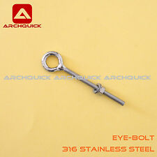 316 Stainless Steel Eye Bolt For Shade Sail ,Tent Boat Camping Outdoor 8mm