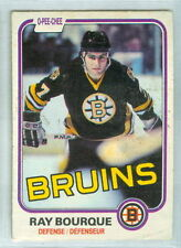 RAY BOURQUE 1981-82 O-Pee-Chee OPC '81 Hockey Card #1 VGEX NHL Boston Bruins d