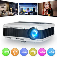 6000lms LED Movie Video Projector Home Theater Party Games HDMI USB VGA HD 1080p
