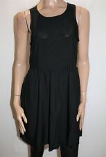 LILY LOVES Brand Black Sleeveless Cut Out Back A Line Dress Size 10 BNWT #TN50