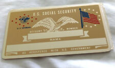U.S Veteran American Flag Metal Social Security Card Tag NOS VTG Perma Products​